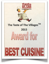 Best Cuisine award